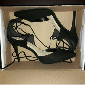 Shoes - Womans Black Suede heels NEW